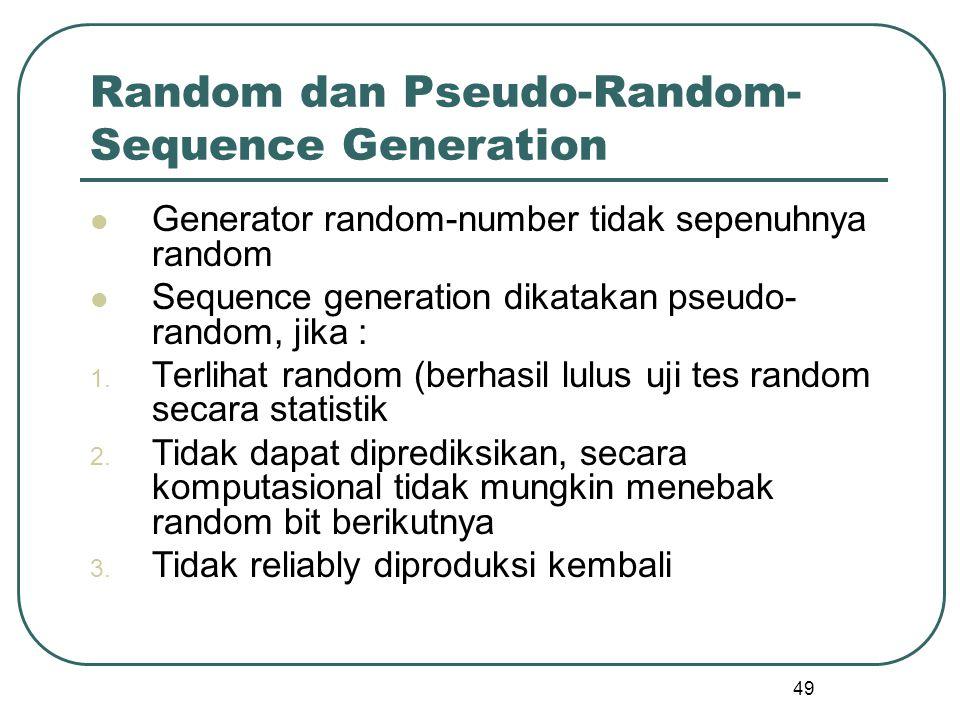 Random dan Pseudo-Random-Sequence Generation