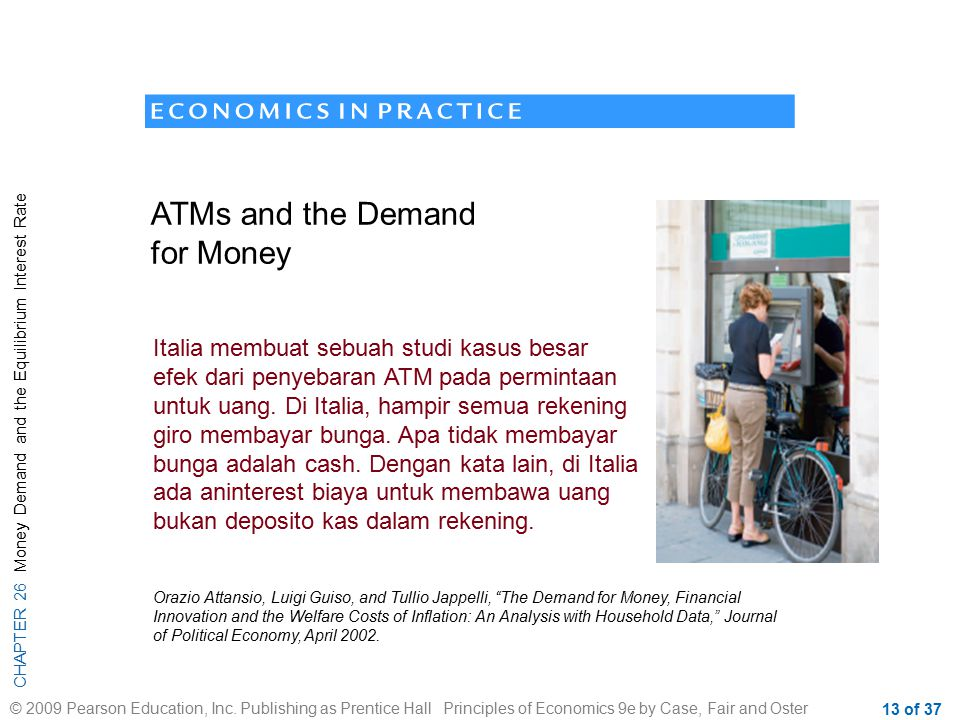ATMs and the Demand for Money