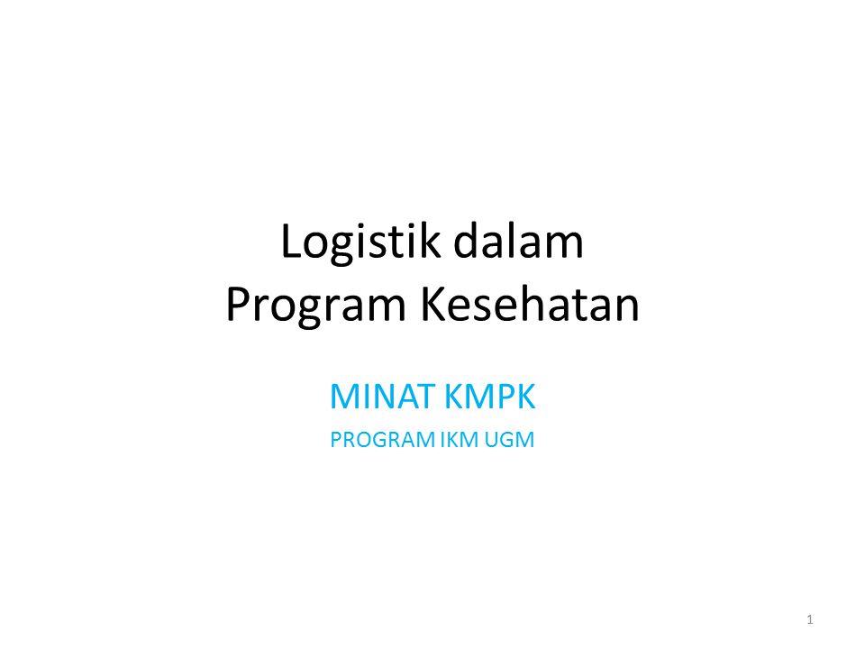 Logistik dalam Program Kesehatan