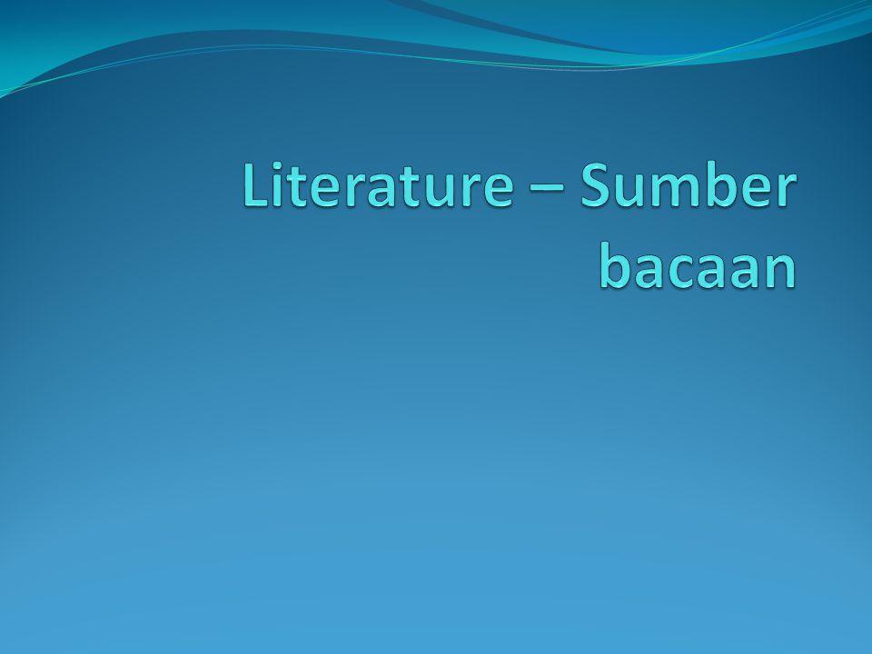 Literature – Sumber bacaan