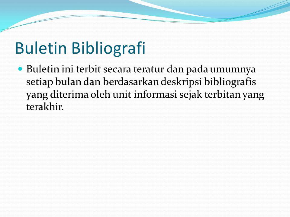 Buletin Bibliografi