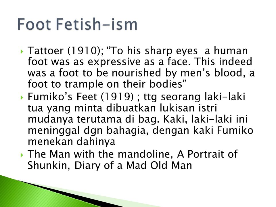 Foot Fetish-ism