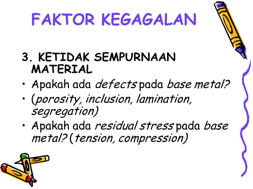 FAKTOR KEGAGALAN 3. KETIDAK SEMPURNAAN MATERIAL