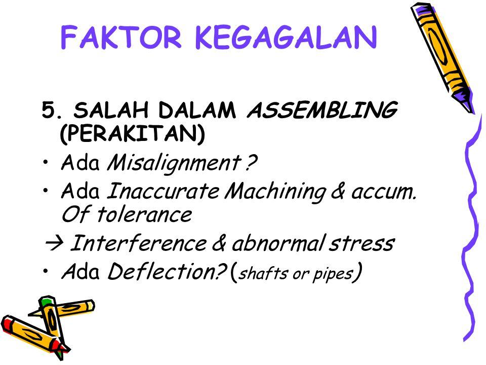 FAKTOR KEGAGALAN 5. SALAH DALAM ASSEMBLING (PERAKITAN)