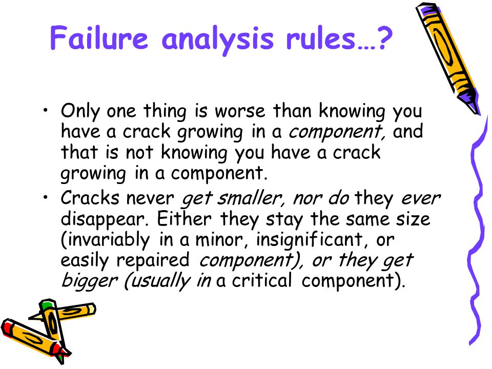 Failure analysis rules…