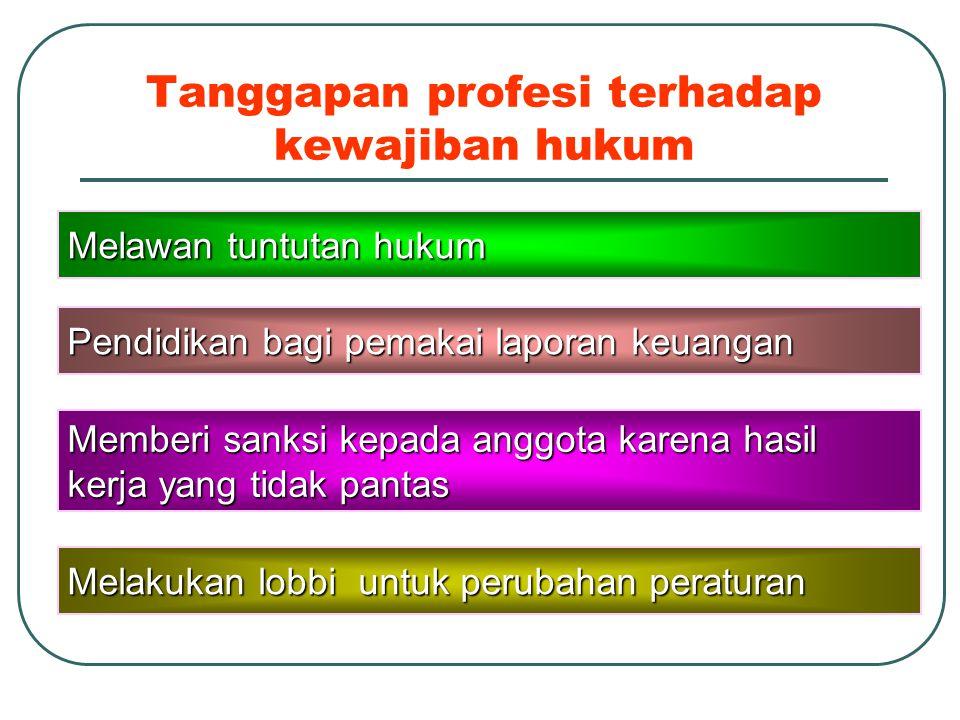 Tanggapan profesi terhadap kewajiban hukum