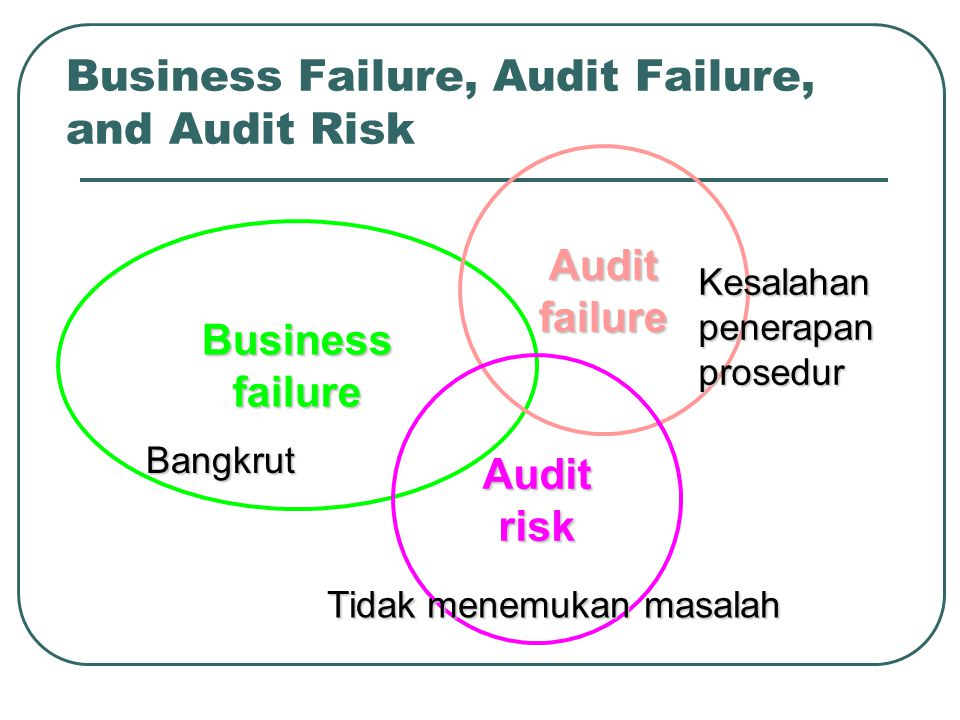 Business Failure, Audit Failure, and Audit Risk