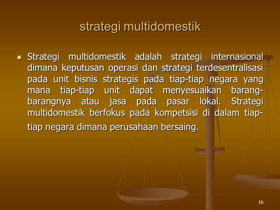 strategi multidomestik