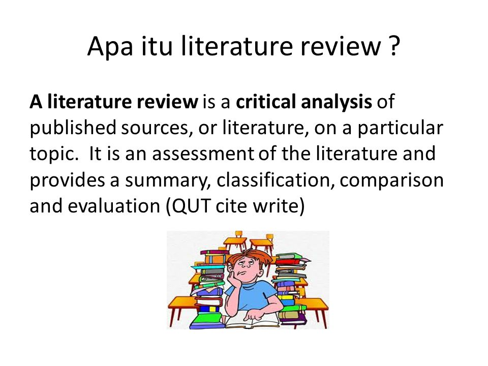 Apa itu literature review