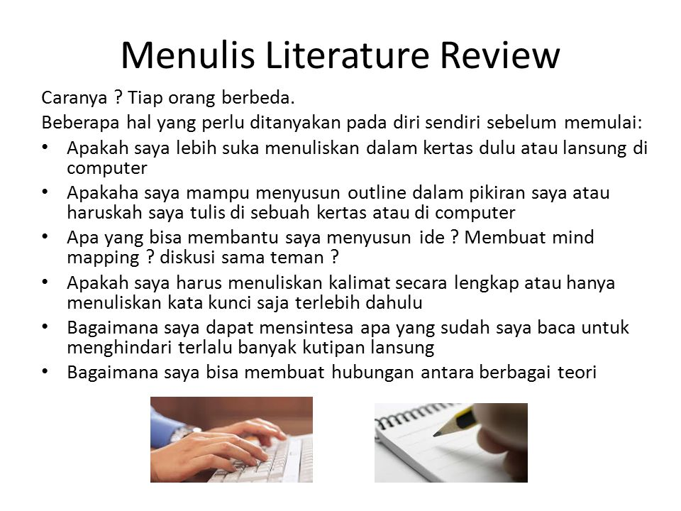 Menulis Literature Review