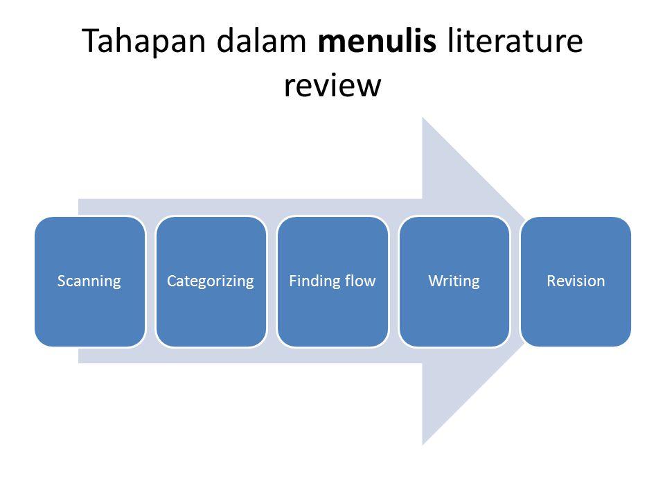 Tahapan dalam menulis literature review