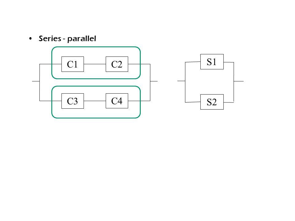 Series - parallel S1 C1 C2 C3 C4 S2