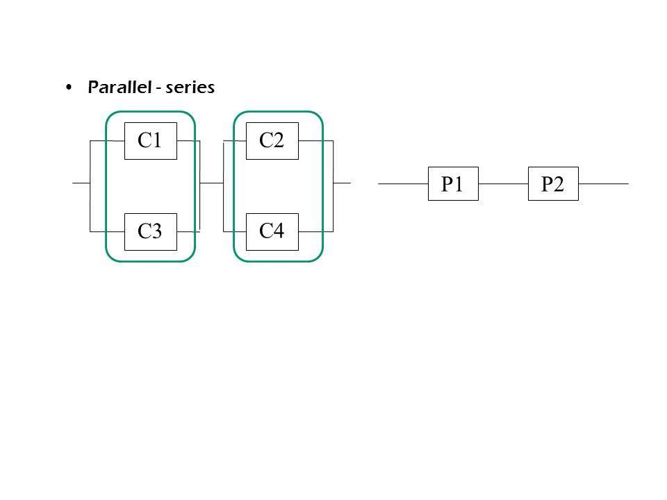 Parallel - series C1 C2 P1 P2 C3 C4