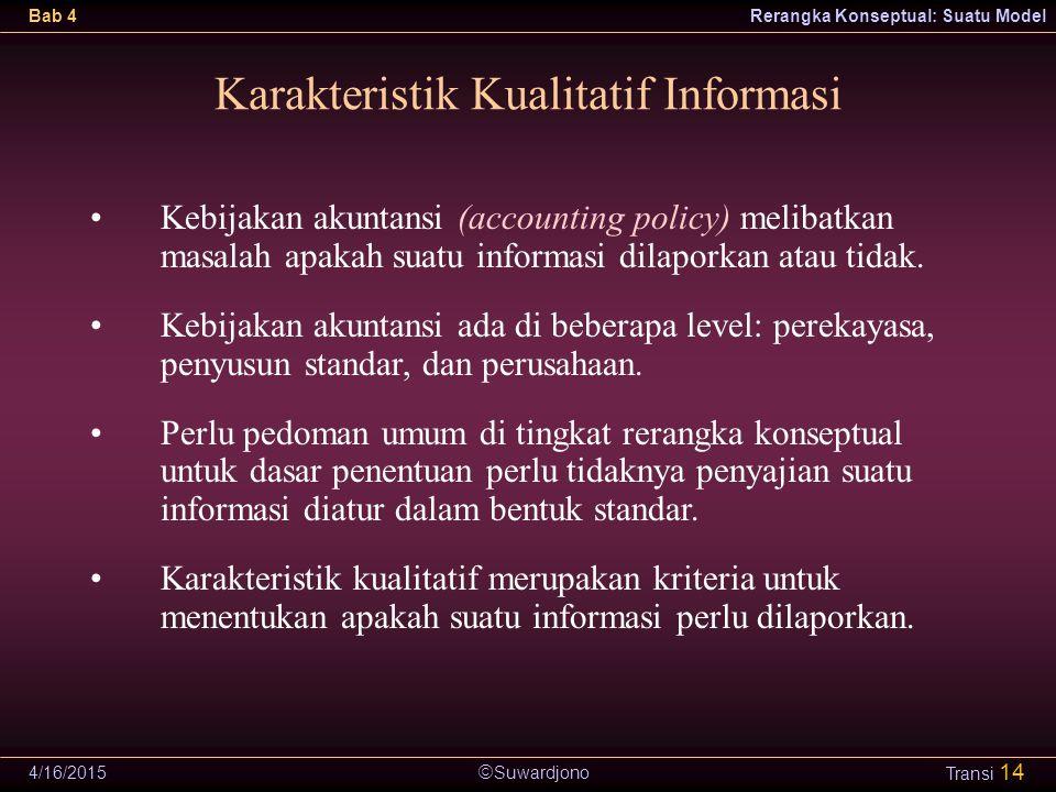 Karakteristik Kualitatif Informasi