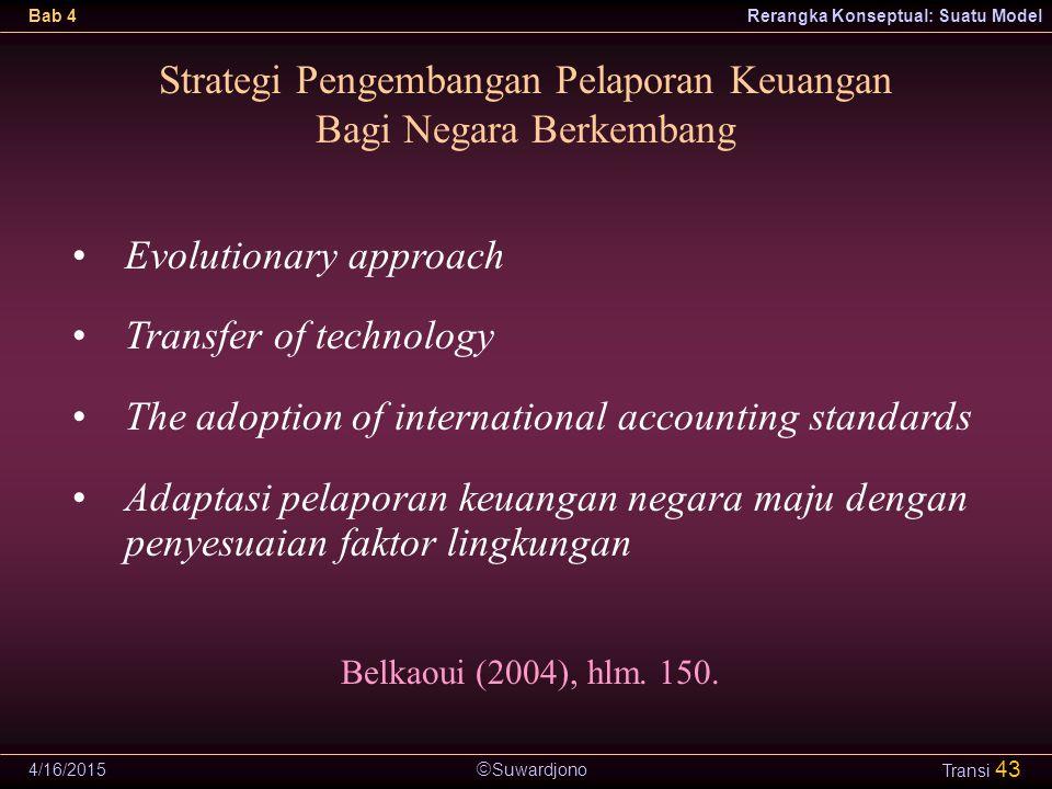 Strategi Pengembangan Pelaporan Keuangan Bagi Negara Berkembang