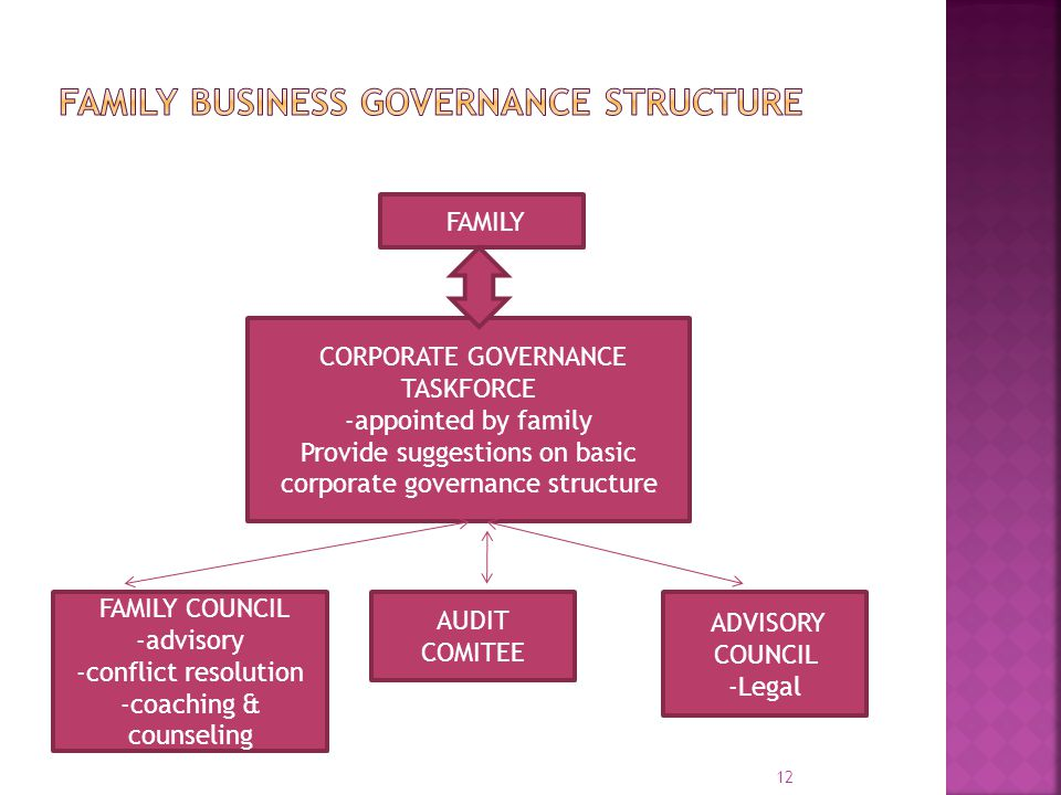 Family business governance structure