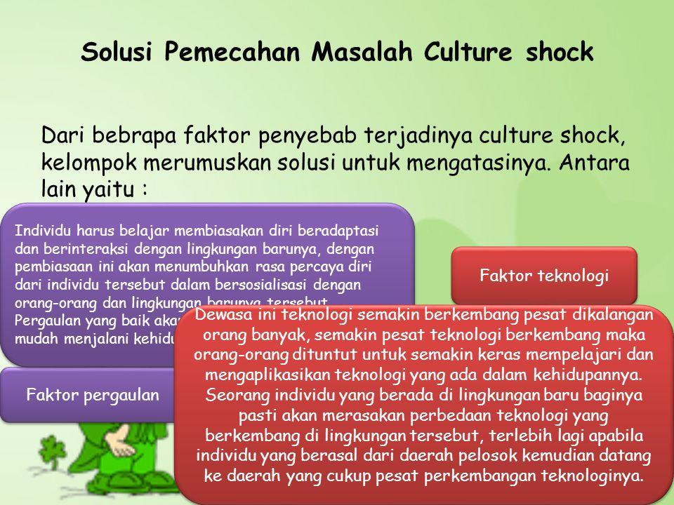 Solusi Pemecahan Masalah Culture shock