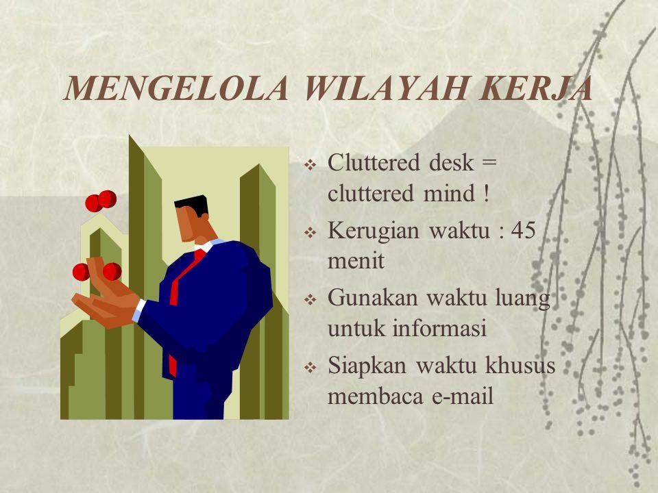 MENGELOLA WILAYAH KERJA