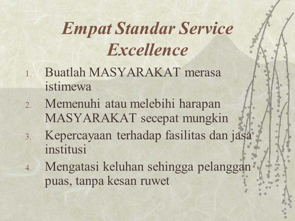 Empat Standar Service Excellence