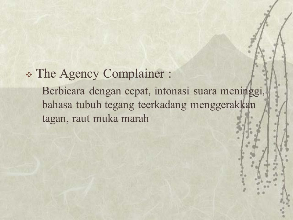 The Agency Complainer :
