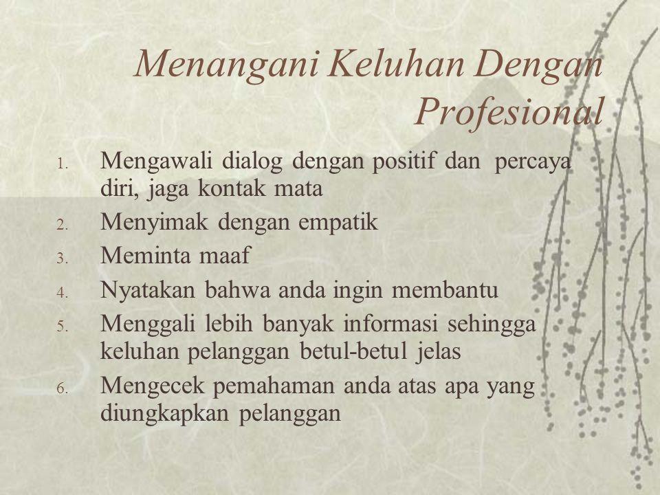 Menangani Keluhan Dengan Profesional
