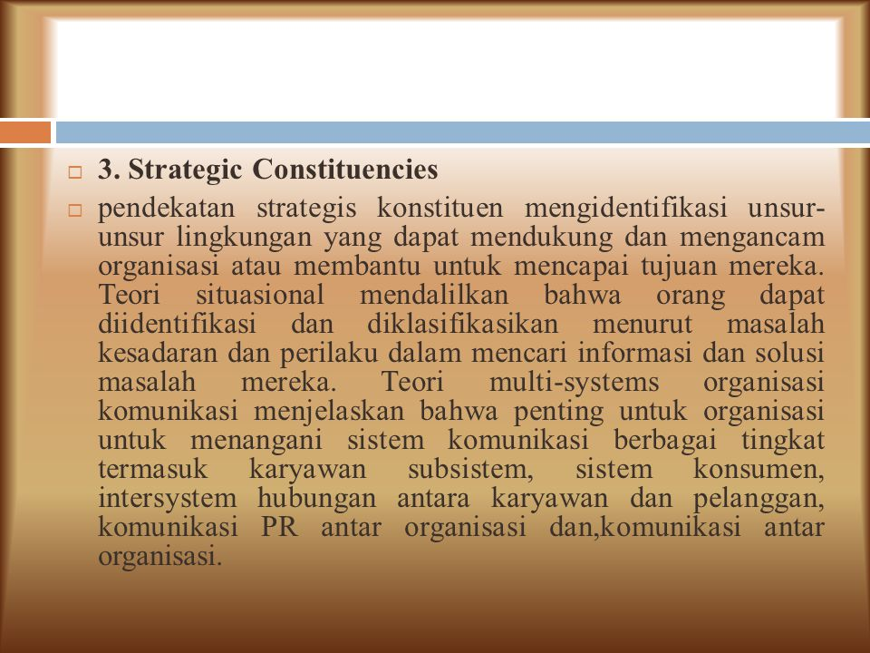 3. Strategic Constituencies
