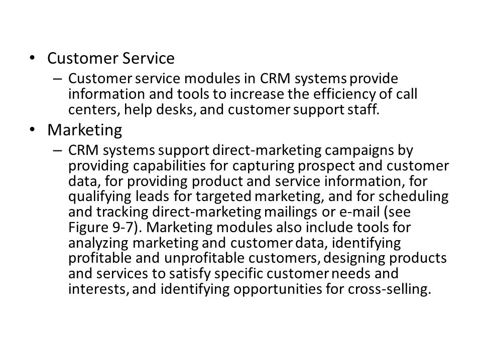 Customer Service Marketing