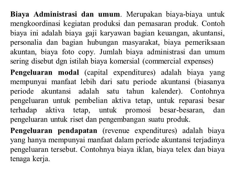 Biaya Administrasi dan umum