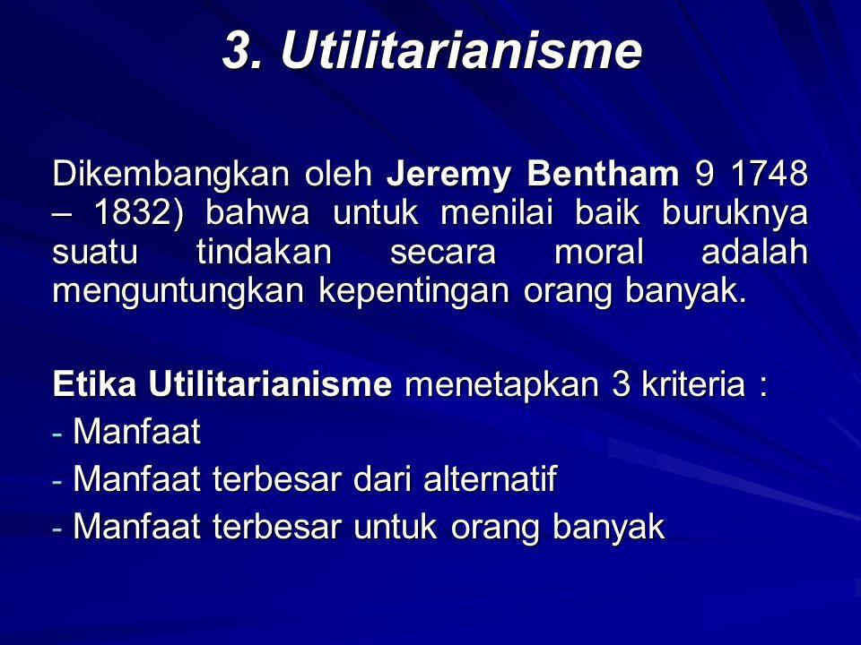 3. Utilitarianisme