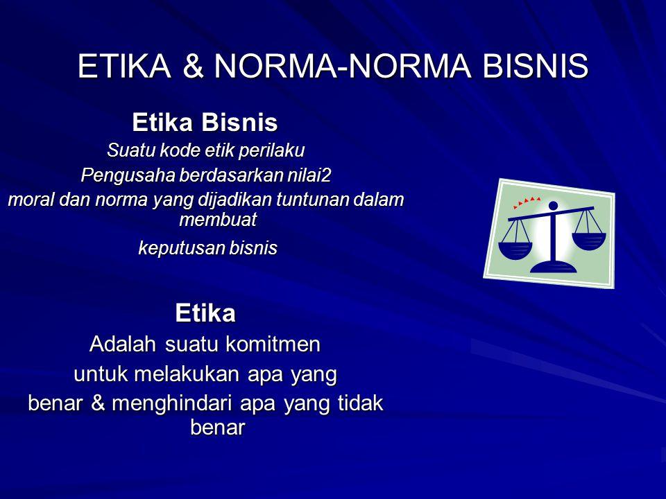 ETIKA & NORMA-NORMA BISNIS