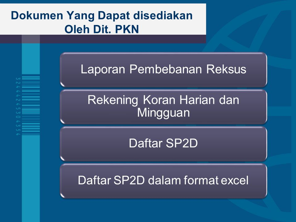 Dokumen Yang Dapat disediakan Oleh Dit. PKN