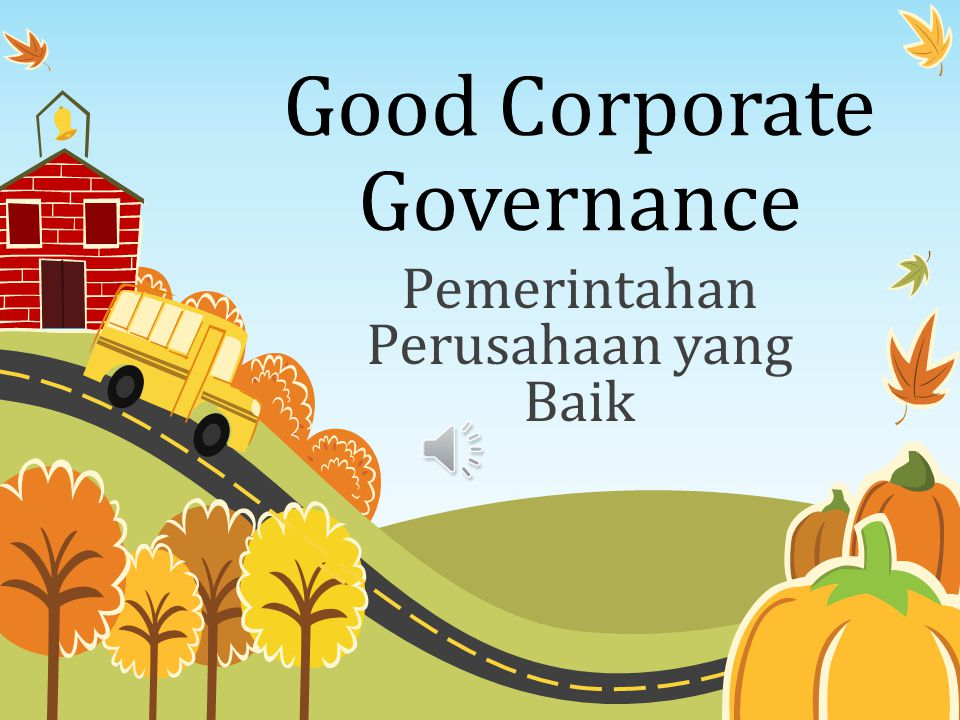 Good Corporate Governance
