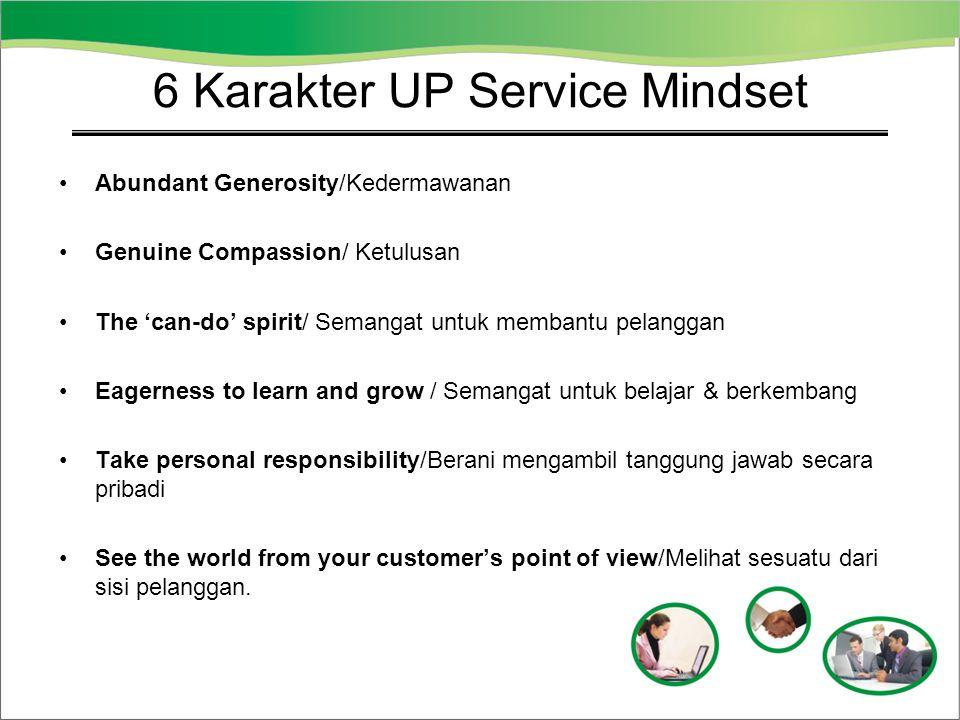 6 Karakter UP Service Mindset