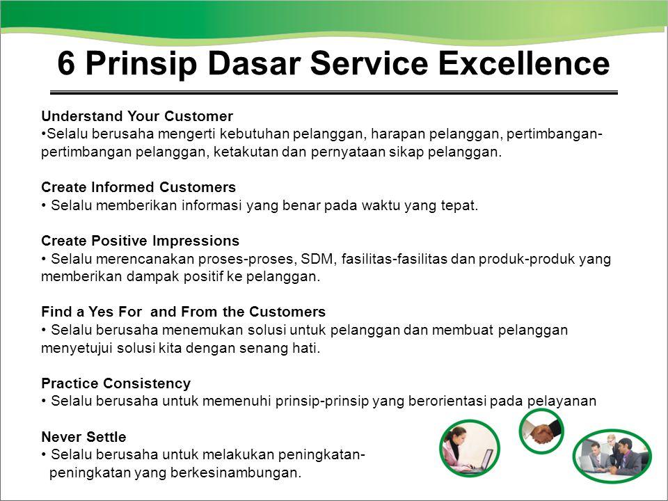 6 Prinsip Dasar Service Excellence