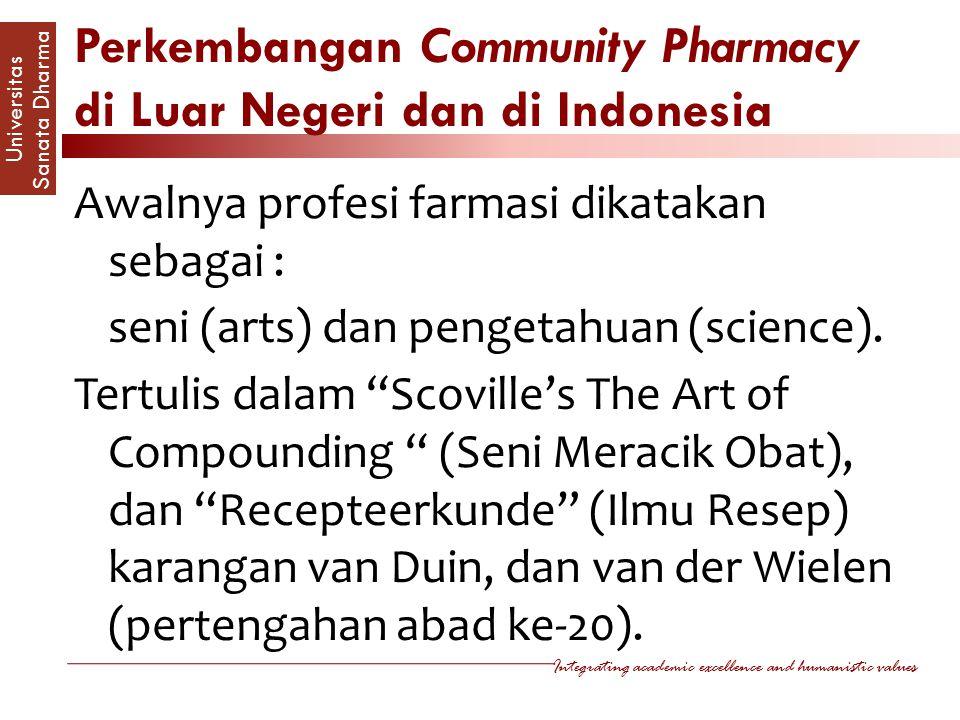 Perkembangan Community Pharmacy di Luar Negeri dan di Indonesia