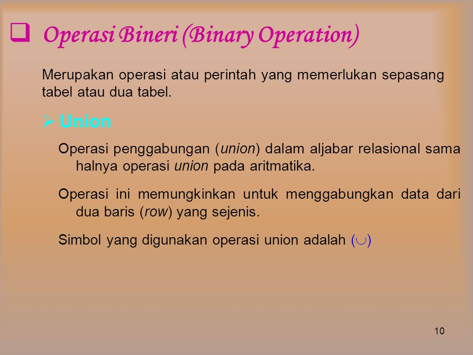 Operasi Bineri (Binary Operation)