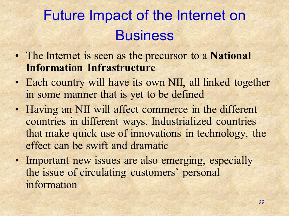 Future Impact of the Internet on Business