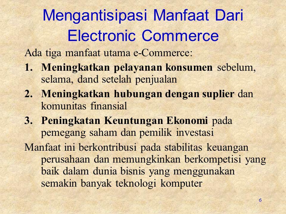 Mengantisipasi Manfaat Dari Electronic Commerce