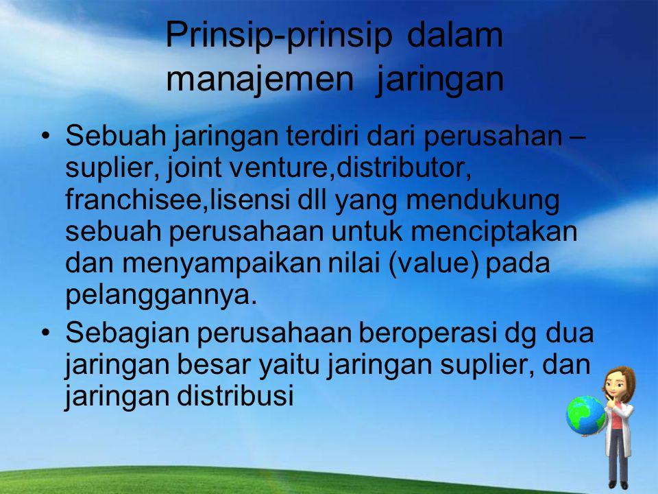 Prinsip-prinsip dalam manajemen jaringan