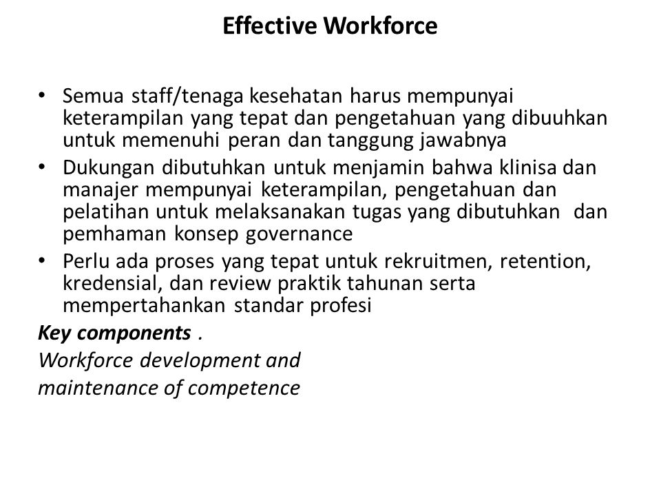 Effective Workforce