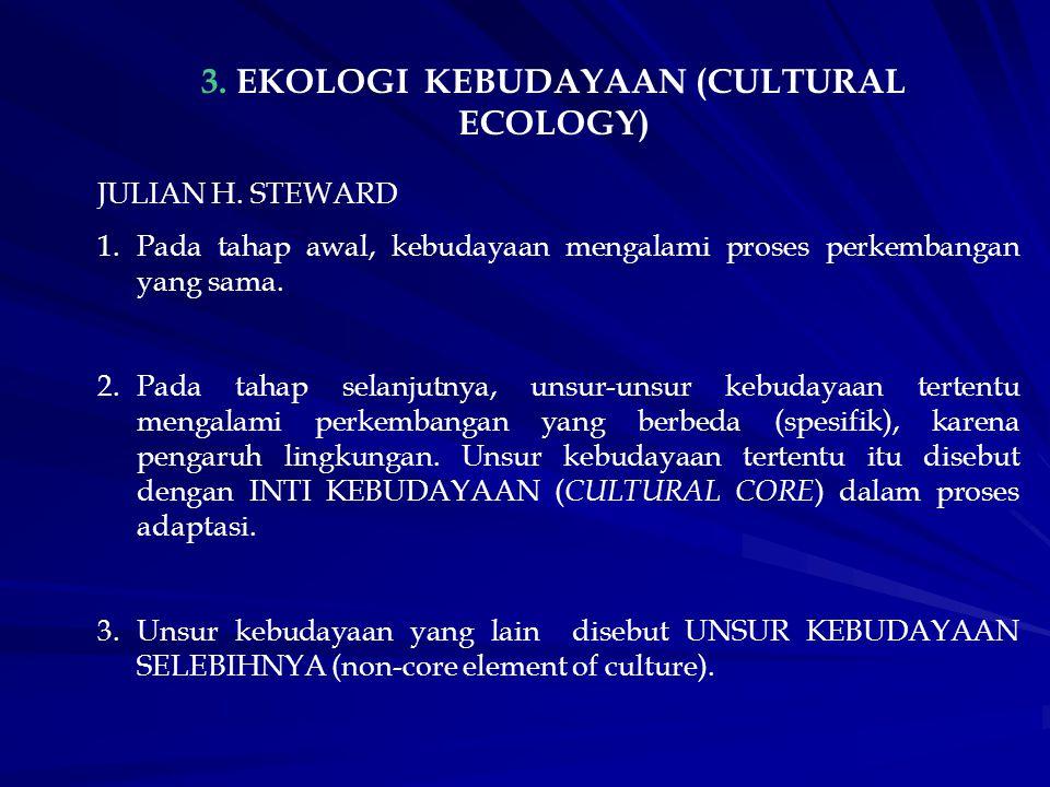 3. EKOLOGI KEBUDAYAAN (CULTURAL ECOLOGY)