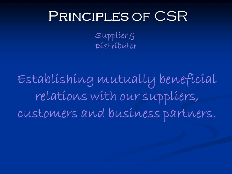 principles of corporate social responsibility Principles of corporate social responsibility (csr) : a companion for students and practicing managers in developing and emerging markets - kindle edition by david katamba, david haag, charles tushabomwe-kazooba, christoph zipfel.