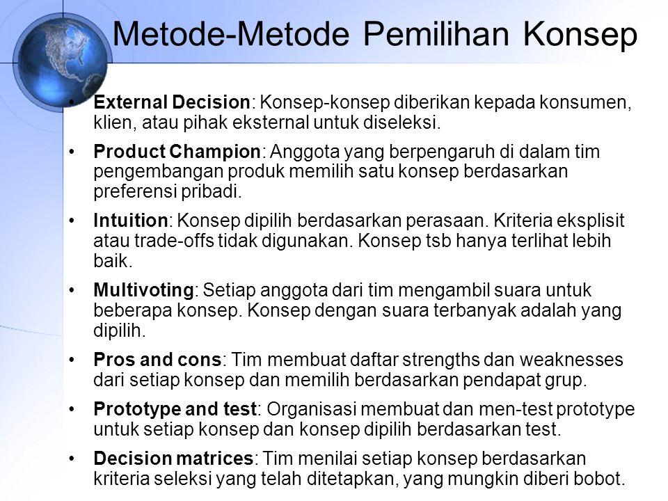 Metode-Metode Pemilihan Konsep
