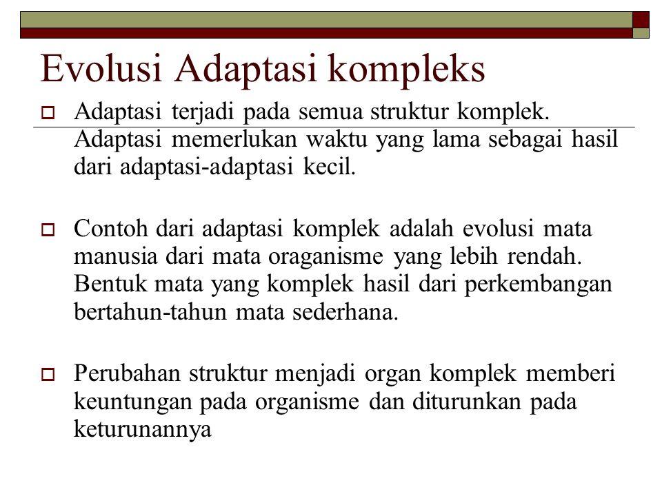 Evolusi Adaptasi kompleks