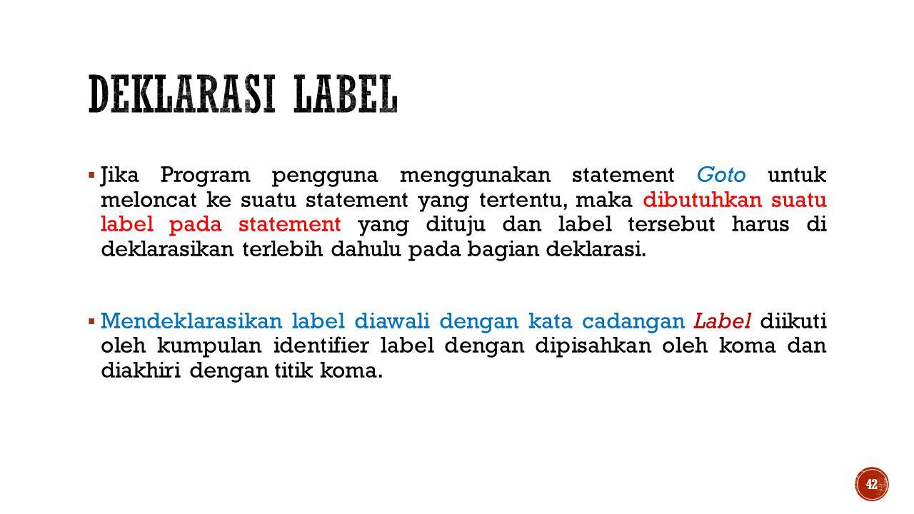 Deklarasi Label