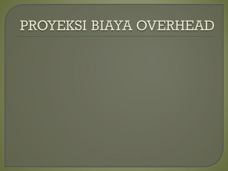 PROYEKSI BIAYA OVERHEAD
