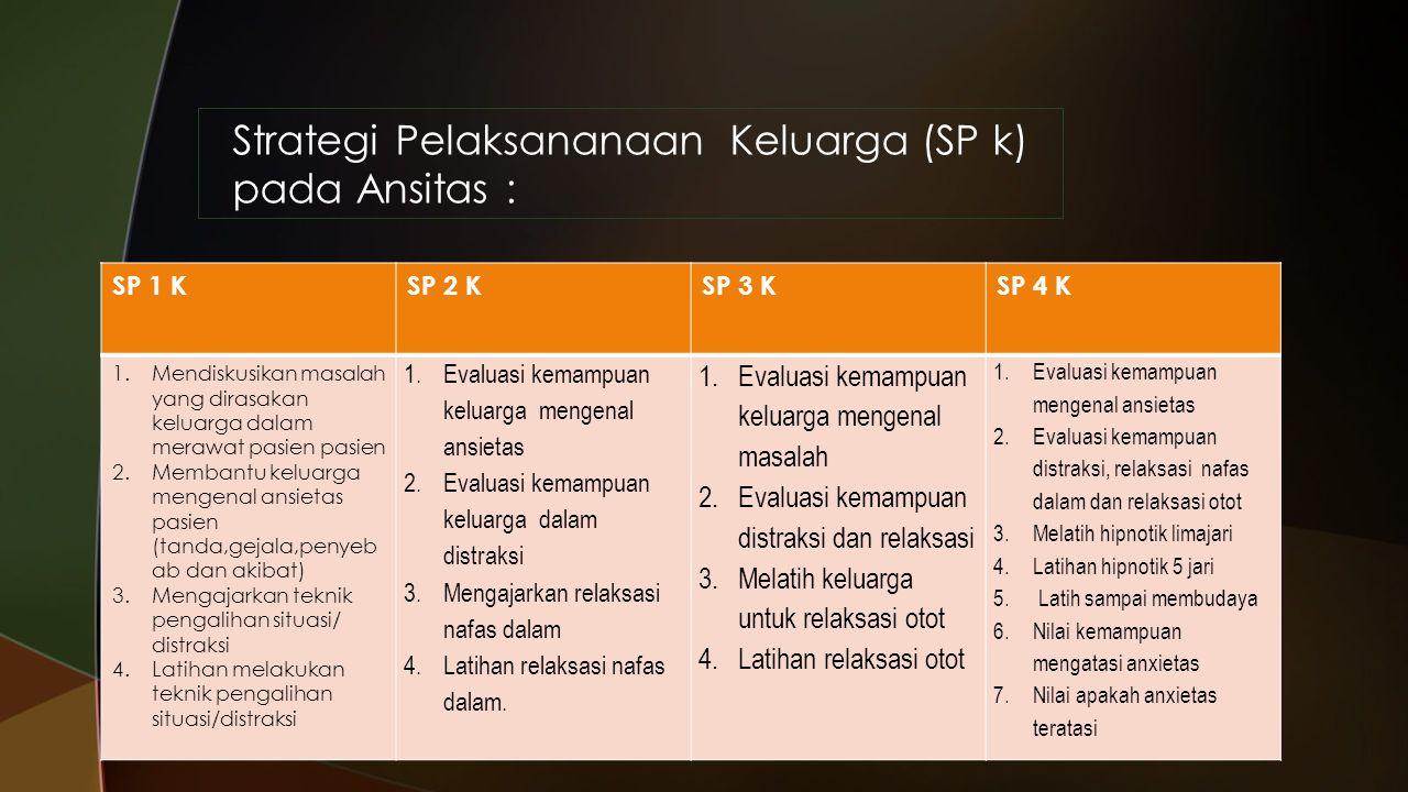 Strategi Pelaksananaan Keluarga (SP k) pada Ansitas :