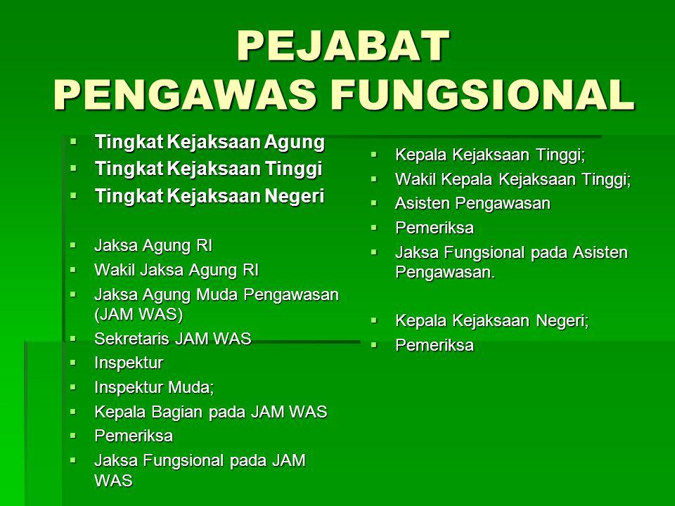 PEJABAT PENGAWAS FUNGSIONAL