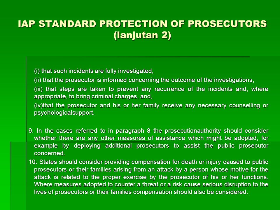 IAP STANDARD PROTECTION OF PROSECUTORS (lanjutan 2)