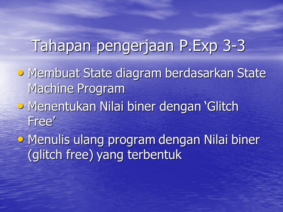 Tahapan pengerjaan P.Exp 3-3